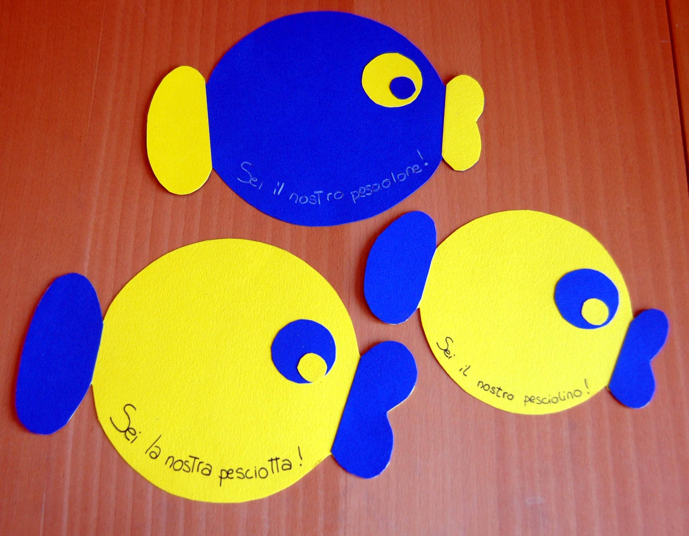 Pesce d aprile homemademamma for Immagini pesciolini