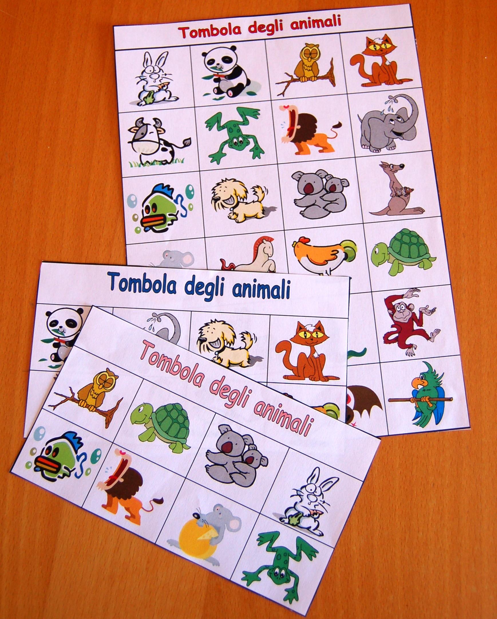 Favorito Giocare con gli animali: la tombola | HomeMadeMamma EO78