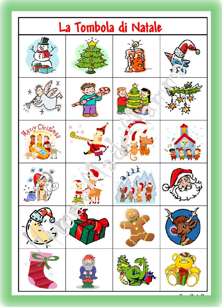 Giochi natalizi per bambini la tombola e il memory di for Cartelle tombola per anziani